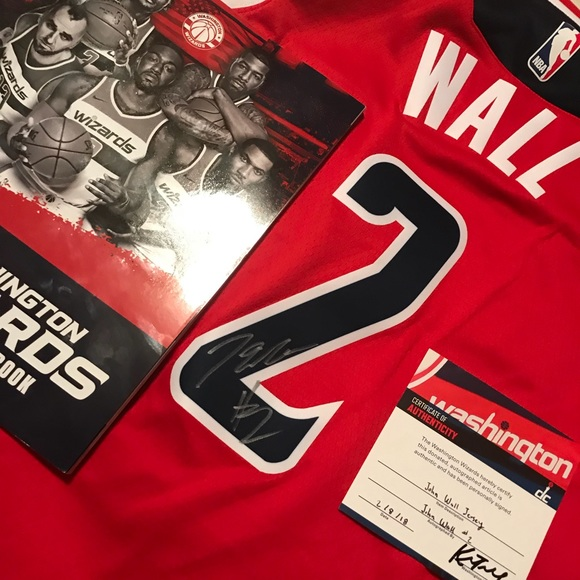 buy popular 0cb9a f44b4 John Wall signed and authenticated jersey